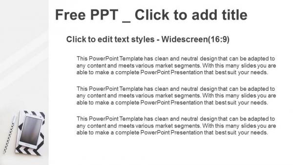 Presentaciones plantilla powerpointPortátil, bolígrafo y teléfono móvil