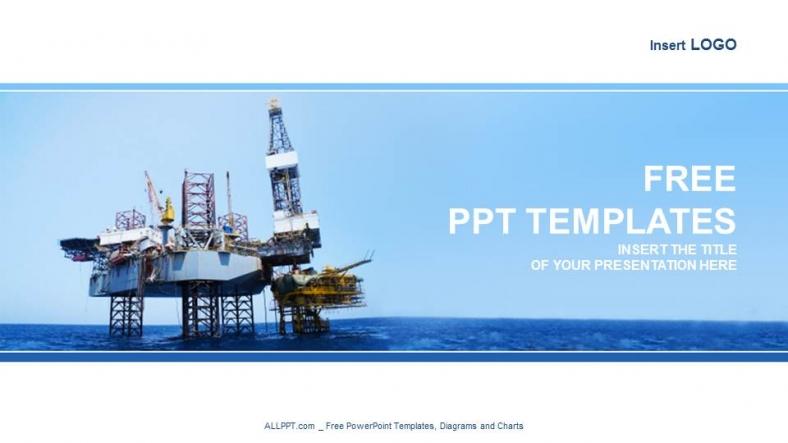 Powerpoint para presentacionesEquipo de elevación en alta mar
