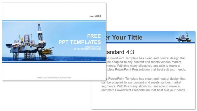 Presentaciones plantilla powerpointEquipo de elevación en alta mar