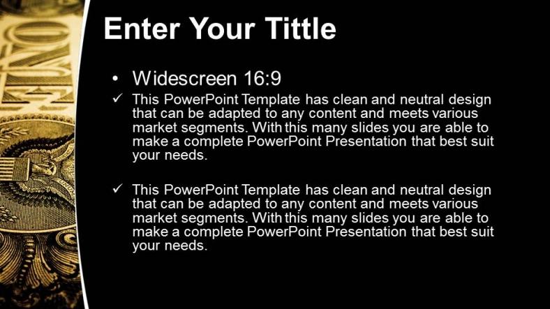 Powerpoint para presentacionesBillete de un dólar