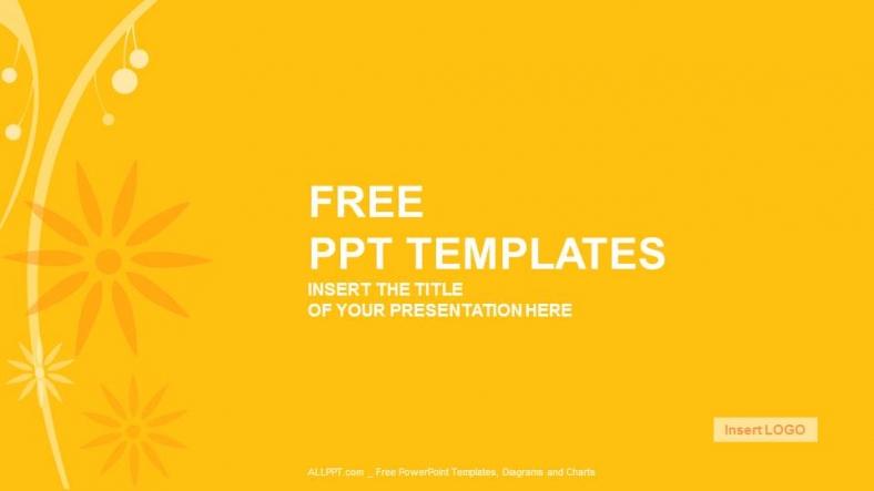 Powerpoint para presentacionesFloral de Naranja