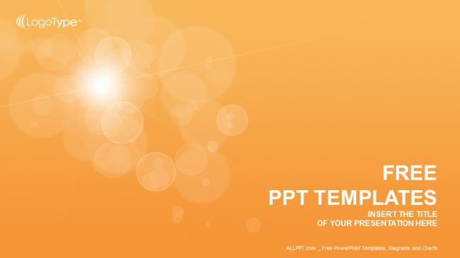 Powerpoint para presentacionesBurbujas de naranja