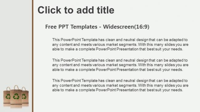 Powerpoint para presentacionesBolsas de papel con letrero de reciclaje