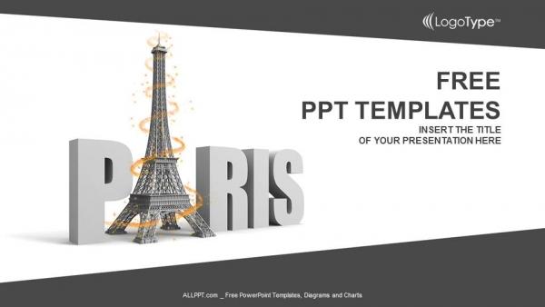 Presentaciones plantilla powerpointPalabra parisina con torre eiffel