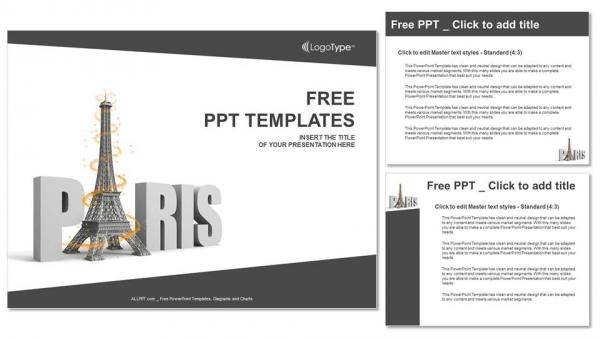 Powerpoint para presentacionesPalabra parisina con torre eiffel