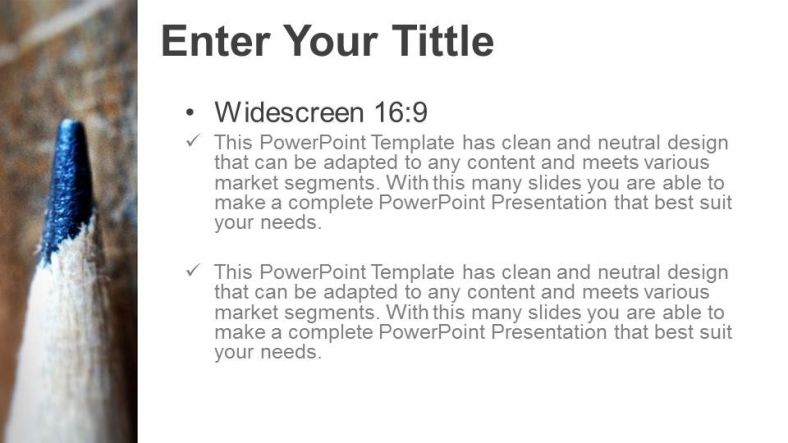 Diapositivas plantilla powerpointPencil Template