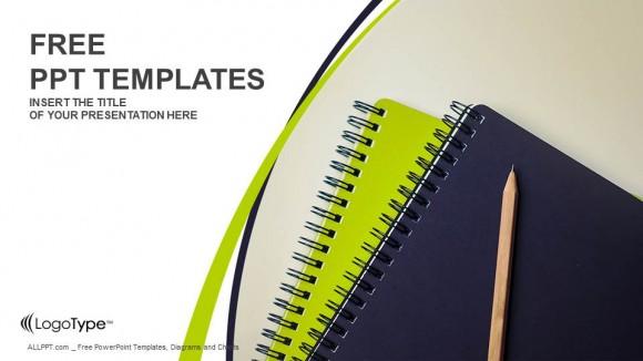 Descargar Presentaciones plantillas powerpointLápiz y cuadernos de apuntes