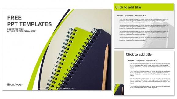 Presentaciones plantilla powerpointLápiz y cuadernos de apuntes