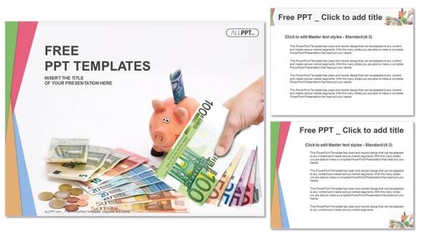 Diapositivas plantilla powerpointHucha con dinero