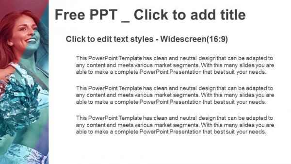 Powerpoint para presentacionesRetrato de animadoras con pompones