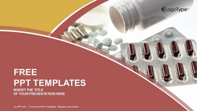 Powerpoint para presentacionesBotella de píldoras medicinales recetadas