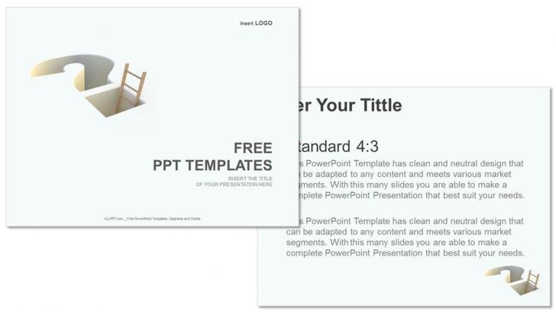 Diapositivas plantilla powerpointPregunta Signo