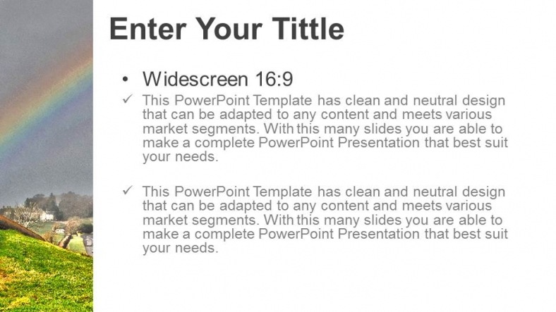 Diapositivas plantilla powerpointArco iris