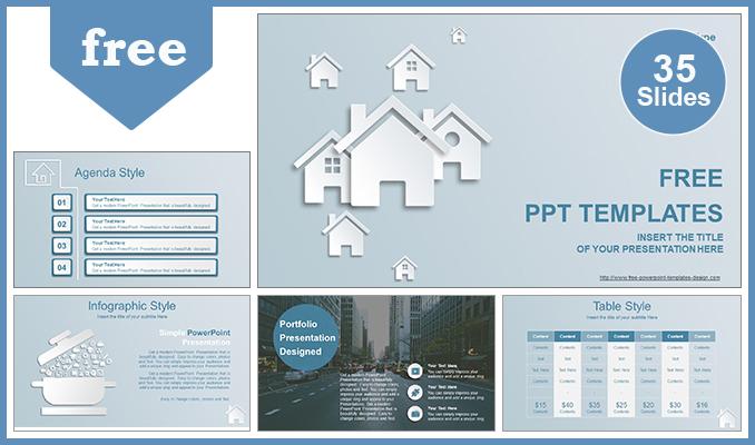 Presentaciones plantilla powerpointIones de la casa de las propiedades inmobiliarias