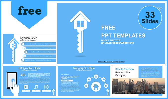 Descargar Presentaciones plantillas powerpointLlave de la Casa de Bienes Raíces