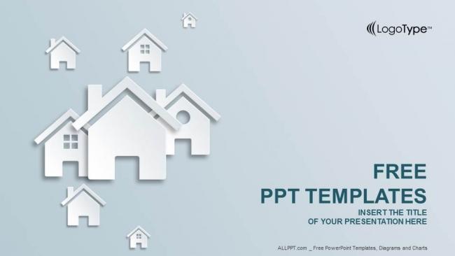 Presentaciones plantilla powerpointReal Estate Icon