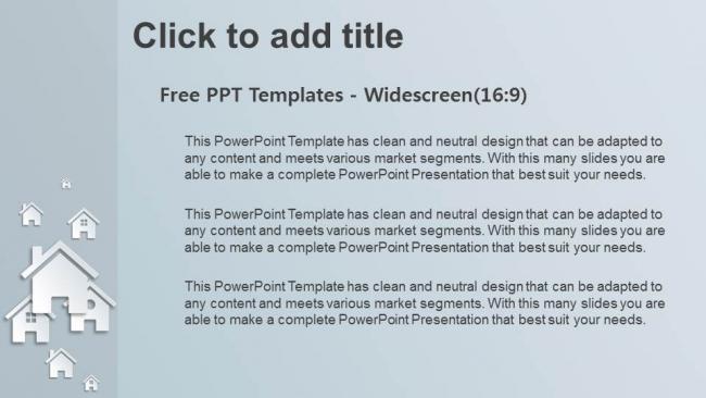 Descargar Presentaciones plantillas powerpointReal Estate Icon