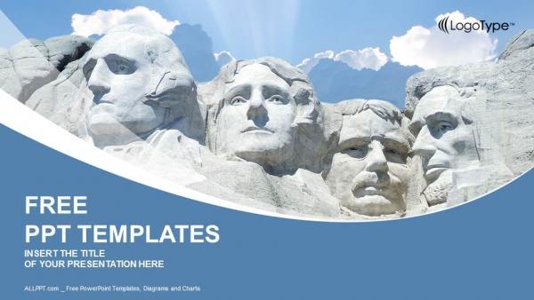 Plantilla Powerpoint: Monumento Nacional Monte Rushmore
