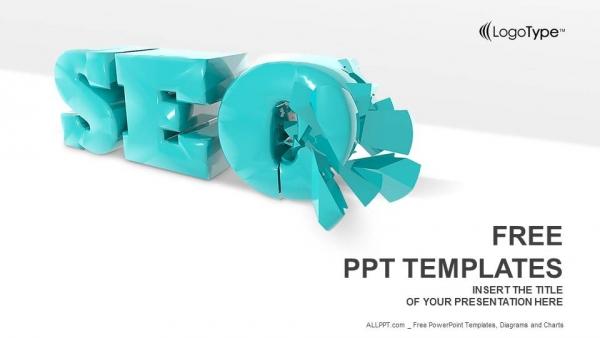 Descargar Presentaciones plantillas powerpointSímbolo SEO 3D