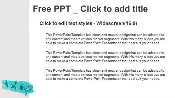 Presentaciones plantilla powerpointSímbolo SEO 3D