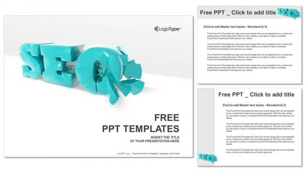 Powerpoint para presentacionesSímbolo SEO 3D