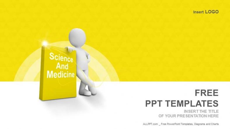 Presentaciones plantilla powerpointLibro de Ciencia y Medicina