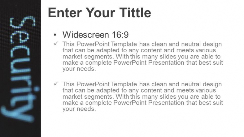 Diapositivas plantilla powerpointSeguridad