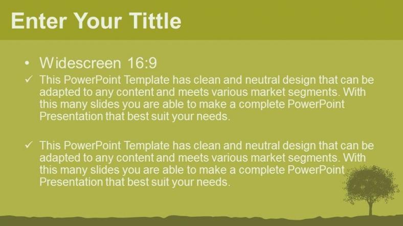 Diapositivas plantilla powerpointSilueta de árbol