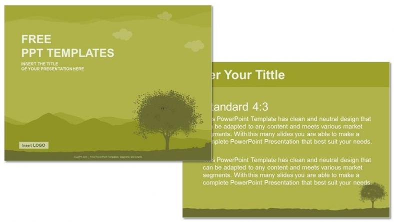 Powerpoint para presentacionesSilueta de árbol