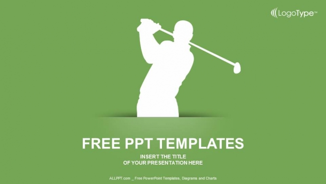 Descargar Presentaciones plantillas powerpointSilueta de Golf