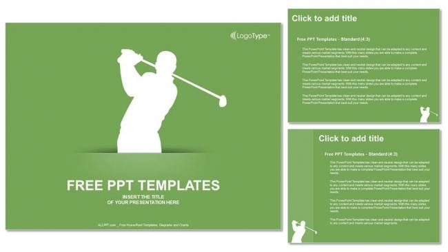 Powerpoint para presentacionesSilueta de Golf