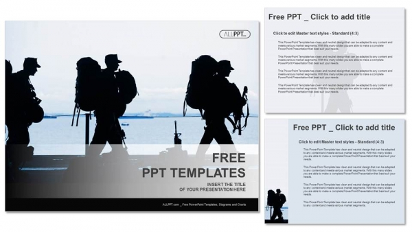 Descargar Presentaciones plantillas powerpointSilueta de soldado con armas