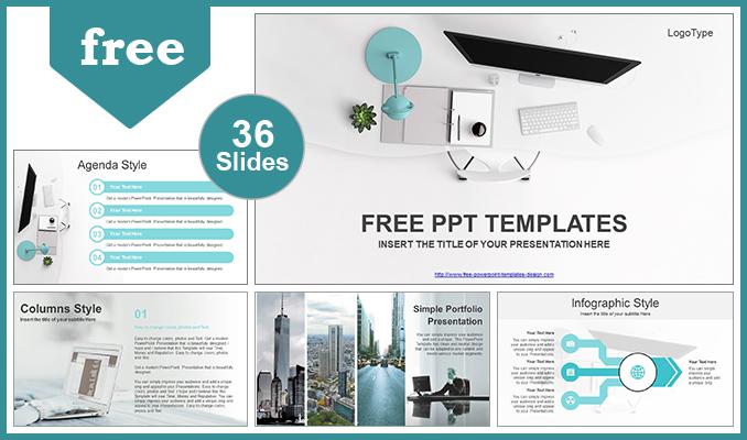 Descargar Presentaciones plantillas powerpointVista simple de la oficina