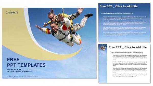 Presentaciones plantilla powerpointEmoción en tándem de paracaidismo