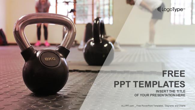 plantilla powerpoint entrenador de fitness