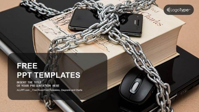 Presentaciones plantilla powerpointTeléfono inteligente con cadenas