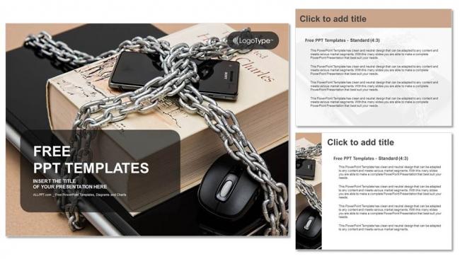 Powerpoint para presentacionesTeléfono inteligente con cadenas