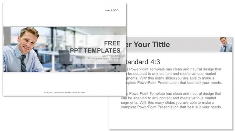 Powerpoint para presentacionesHombre sonriente