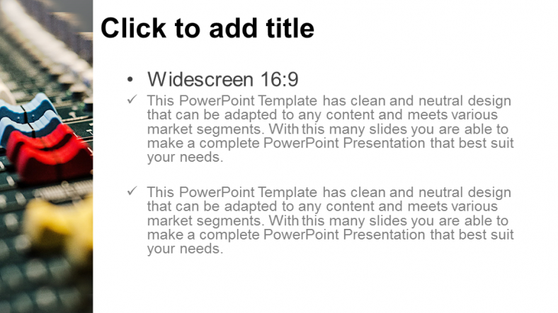 Diapositivas plantilla powerpointMezclador de sonido