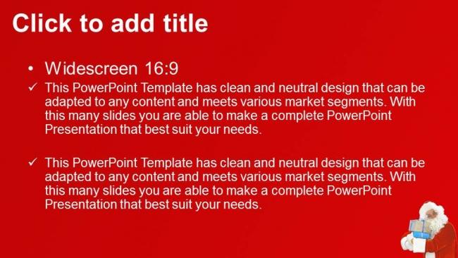 Presentaciones plantilla powerpointSanta Claus Spectacles