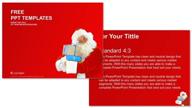 Diapositivas plantilla powerpointSanta Claus Spectacles