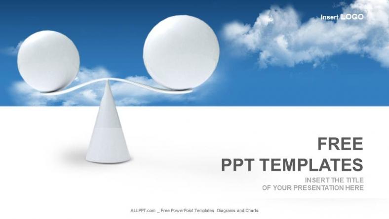 Diapositivas plantilla powerpointEsferas Equilibrio