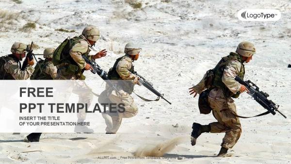 Descargar Presentaciones plantillas powerpointEscuadrón de soldados en el desierto