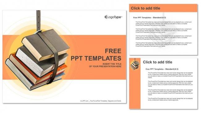 Descargar Presentaciones plantillas powerpointApilado de libros