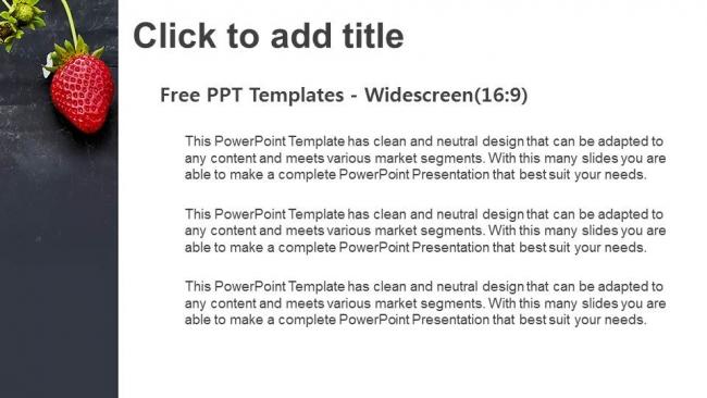 Diapositivas plantilla powerpointCampo de fresas