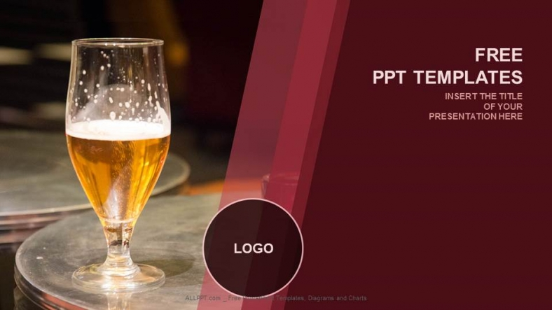 Presentaciones plantilla powerpointBotón de cerveza