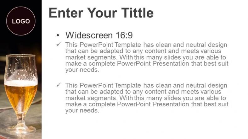 Diapositivas plantilla powerpointBotón de cerveza