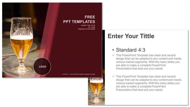 Powerpoint para presentacionesBotón de cerveza