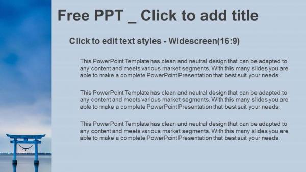Diapositivas plantilla powerpointLa famosa puerta Torii