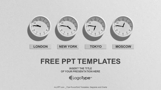 Powerpoint para presentacionesTiempo 4 Relojes